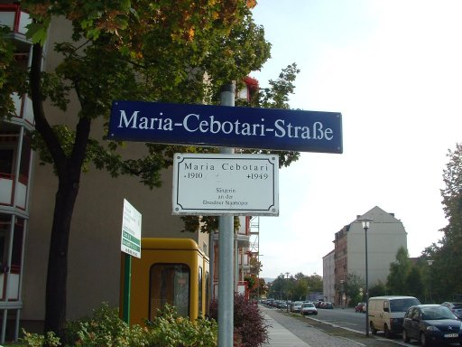 Strada Maria Cebotari din orașul Dresda, Germania.